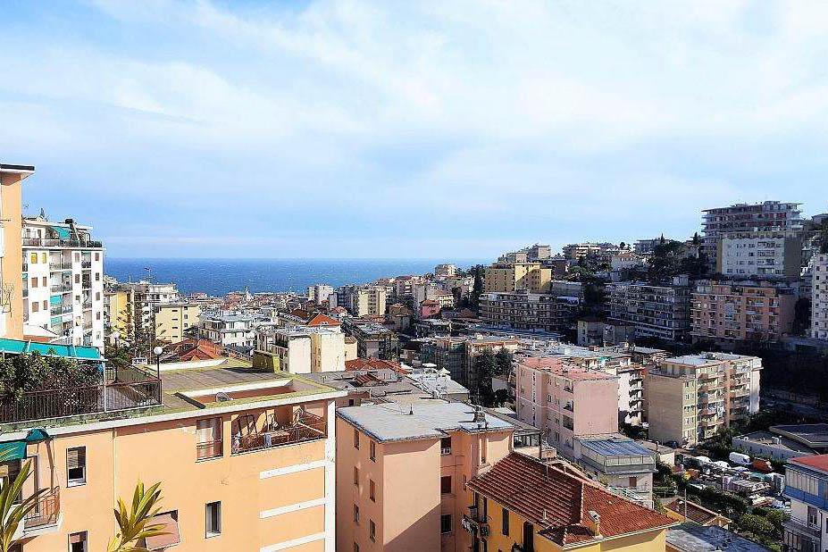 Sanremo : Via Galilei vendita appartamento attico con vista mare