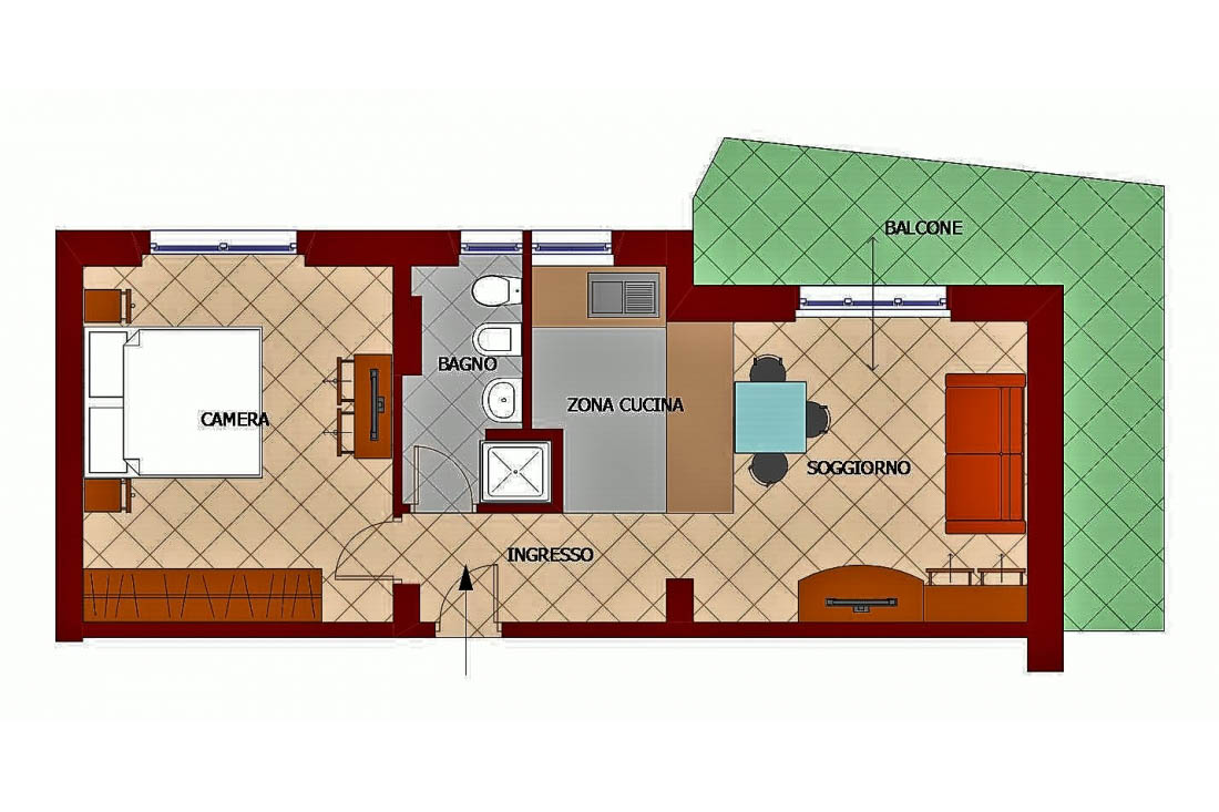 Sanremo vendita appartamento con ampia balconata